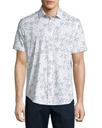 Robert Graham Fly Trim Fit Printed Short Sleeve Sport Shirt Multi