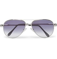 Cutler And Gross Aviator Style Metal Sunglasses Blue