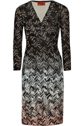 Missoni Ombre Crochet Knit Dress Black