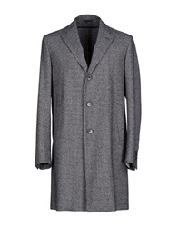 Michelangelo Full Length Jackets Steel Grey