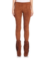 Polo Ralph Lauren Stretch Suede Skinny Pants Snuff