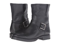 Frye Natalie Short Engineer Black Washed Vintage Women's Boots