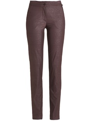 Golfino Tech Stretch Snakeskin Trousers Brown