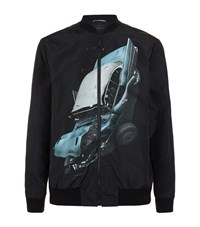 Christopher Kane Car Crash Bomber Jacket Male Black