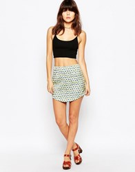 Daisy Street Skirt In Daisy Print Blueyellowdaisy