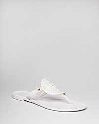 Jack Rogers Thong Sandals Georgica Jelly White