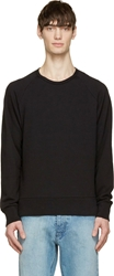 Rag And Bone Black Classic Raglan Sweatshirt