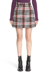 Carven Women's Plaid Boucle Miniskirt