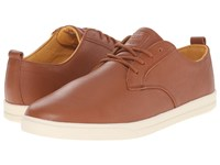 Clae Ellington Leather Grizzly Tumbled Leather Men's Lace Up Casual Shoes Brown