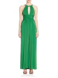 Bcbgmaxazria Sleeveless Peplum Gown Malachite
