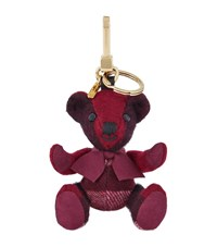 Burberry Shoes And Accessories Thomas Check Bear Keyring Female Burgundy