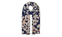 Whistles Apples And Pears Print Scarf Blue Multi