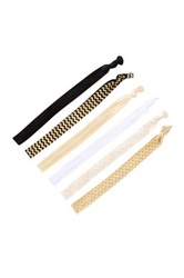 Golden Girl Ribbon Headwraps Pack Of 6 Black