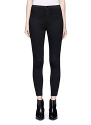 Topshop 'Joni' High Waist Ankle Grazer Denim Pants Black