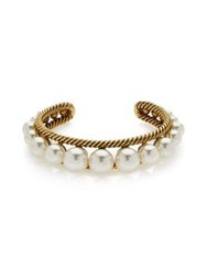 Marc Jacobs Pearls Pearl Rope Cuff Gold Plated One Colour