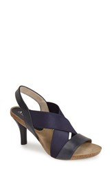 Women's Anyi Lu 'Bella' Sandal Navy Calf