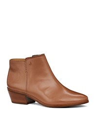 Jack Rogers Bailee Faux Leather Ankle Boots Cognac