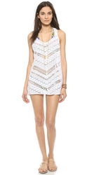 Milly Draped Crochet Tunic White