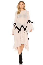 For Love And Lemons Adalyn Poncho Dress Beige