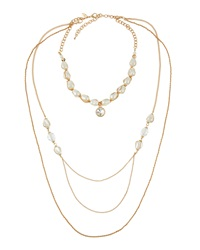 Greenbeads By Emily And Ashley Golden Pearly Multi Strand Convertible Necklace
