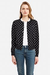 Comme Des Garcons Play Black Heart Polka Dot Cardigan