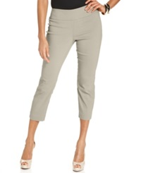 Alfani Petite Pants Skinny Pull On Capri Summer Straw