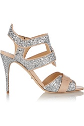 Jerome C. Rousseau Auber Glitter Finished Leather Sandals