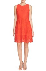 Women's Cece By Cynthia Steffe 'Olivia' Lace Fit And Flare Dress