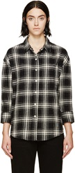 R 13 Black Plaid Oversized Shirt
