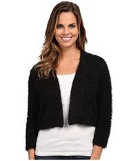Rsvp Bre Fuzzy Shrug Black Women's Sweater
