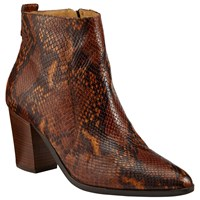 John Lewis Collection Weekend By Pallas Block Heeled Ankle Boots Snake Print Leather