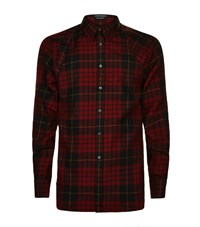 Alexander Mcqueen Tartan Harness Shirt Male Red