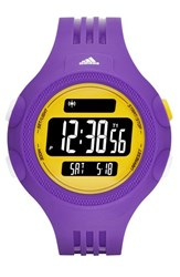 Men's Adidas Performance 'Questra Xl' Rubber Strap Watch 53Mm Purple Gold