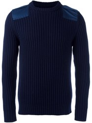 Lc23 Ribbed Jumper Blue