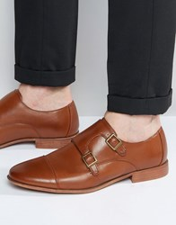 Asos Monk Shoes In Tan With Natural Sole Brown