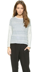 Stateside Heather Melange Pullover Heather Blue Combo
