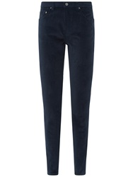 Jaeger Cordruroy Skinny Trousers Midnight