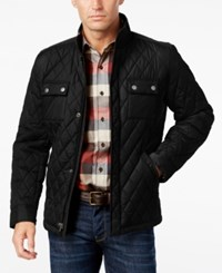 Tasso Elba Men's Water Resistant Quilted Colorblocked Jacket Only At Macy's Black Combo