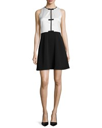 Erin Fetherston Agnes Two Tone Cocktail Dress Ivory Black