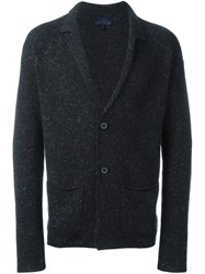 Lanvin Speckled Knit Cardigan Black