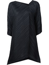 Pleats Please By Issey Miyake Triangle Cut Pleated Top Black
