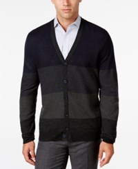Ryan Seacrest Distinction Men's Lightweight Colorblocked Cardigan Only At Macy's Dark Navy
