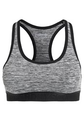 Superdry Sports Bra Speckle Charcoal Grey