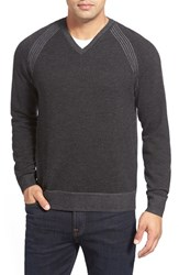 Men's Robert Graham 'Regan' Wool V Neck Sweater Black