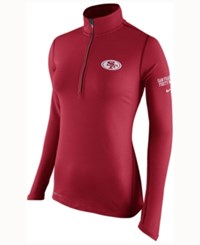 Nike Women's San Francisco 49Ers Tailgate Element Quarter Zip Pullover Red
