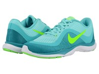 Nike Flex Trainer 6 Hyper Turquoise Energy Jade Electro Green Women's Cross Training Shoes Blue