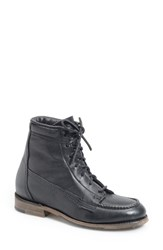Women's Vintage Shoe Company 'Vanessa' Moc Toe Boot Black Leather