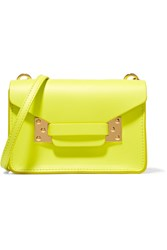 Sophie Hulme Milner Nano Neon Leather Shoulder Bag Bright Yellow