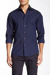 Vince Camuto Solid Long Sleeve Slim Fit Sport Shirt Blue
