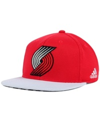 Adidas Portland Trail Blazers 2015 Nba Draft Snapback Cap Red White